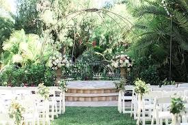 eden garden wedding venue outdoor wedding at gardens ceremony set up on grass with white chairs