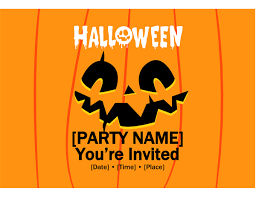 Blank Halloween Invitation Templates Invitations Office Com