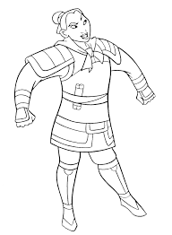 Small Picture Mulan Coloring Pages