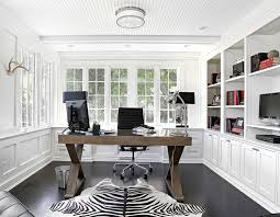 home office white. Black And White Home Office Room