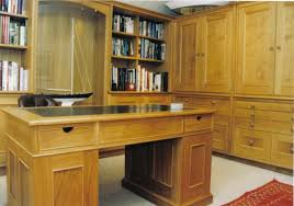 oak desks for home office. simple for inspiring office room design which is implemented with two sides of  bookshelves and facing simple solid oak desks for home also red carpet to c