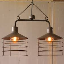 Industrial modern lighting Pendant Industrial Modern Cage Edison Chandelier Two Light Pendant Lamp Woodwaves Industrial Modern Cage Edison Chandelier Two Light Pendant Lamp
