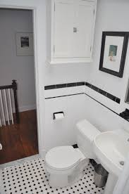 retro black white bathroom floor tile and classic patterns