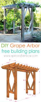 Small Picture Free building plan for a gorgeous DIY friendly arbor pergola it