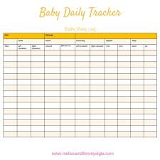 Baby Tracker Chart Breastfeeding Log Baby Log Baby Feeding Chart Simple And Complex Orange
