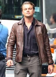 inception cobb leonardo dicaprio brown jacket leonardo dicaprio leather jacket
