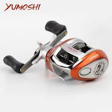 YUMOSHI Right or Left hand Baitcasting Reel 12+1BB 6.3:1 Bait ...