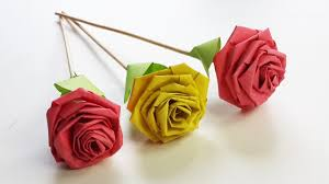 Paper Quilling Rose Flower Basket How To Make Rose With Paper Strip Quilling Rose Diy Paper Craft