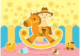 baby ride rocking horse vector free vector art stock graphics images