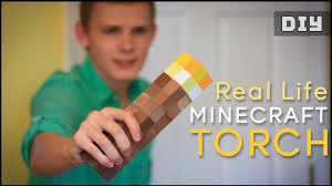 Minecraft Bedroom In Real Life How To Make A Real Life Minecraft Torch Diy Youtube