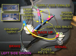 chet's avalanche pages Trailer Wiring Harness Walmart how these wire up note that the white band on the diodes point toward the backup light all the supply lines from the harness are female and all the trailer wiring harness walmart