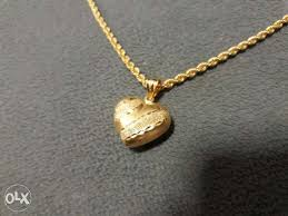 21k saudi gold necklace with pendant