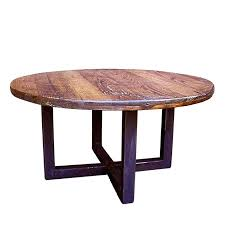 round coffee table base custom made reclaimed wood wormy chestnut round coffee table with industrial metal base coffee table base for granite top coffee