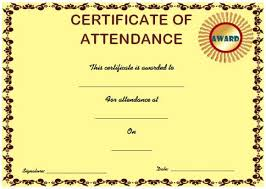 Course Attendance Certificate Template 10 Editable Word