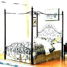 black metal canopy bed – jimmy saul