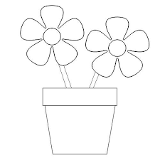 Small Picture New Flower Pot Coloring Page 42 With Additional Coloring Pages for