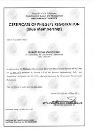 Philgeps Registration Quality From Source Inc