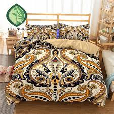 helengili 3d bedding set paisley print duvet cover set lifelike bedclothes with pillowcase bed home textiles 2 11 comforter bedding bedding set from