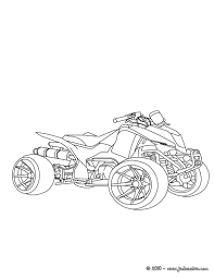 Coloriages Coloriage Quad Imprimer Kfp R W Dessin Raptor Design