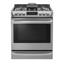 Gas Range With Gas Oven Lg Electronics 63 Cu Ft Slide In Gas Range With Probake