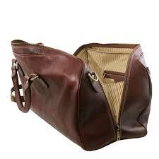 brown lisbona travel leather duffle bag large size lisbona