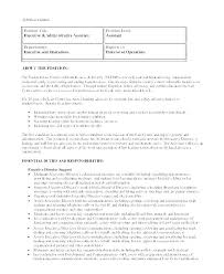 Office Assistant Duties On Resume Administrative Assistant Job Description Template 1