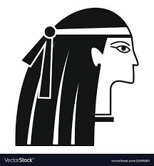 Egyptian Girl Icon Simple Style