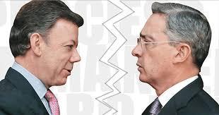 Resultado de imagen para Alvaro Uribe y Juan Manuel santos