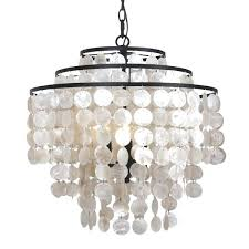 3 light chandelier design coastal 3 light bronze shell chandelier free today hampton