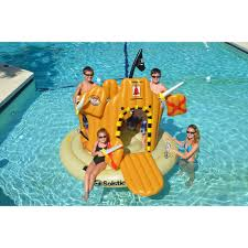 pool toys. Unique Toys Swimline Pirate Island Inflatable Pool Float And Toys