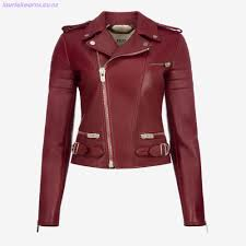 qokn919d8lch women s jackets bally leather biker jacket red