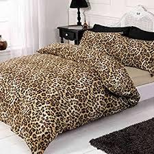 Just Contempo 4pc Leopard Print Duvet Cover Set, King, Brown ... & Just Contempo 4pc Leopard Print Duvet Cover Set, King, Brown Adamdwight.com