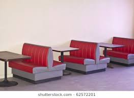 restaurant booth clipart. Modren Restaurant Image Of A Retro Diner With Empty Red Booths And Tables In Restaurant Booth Clipart
