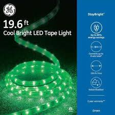 Image Exterior 240light Led Green Super Bright Tape Light The Home Depot Green Christmas Rope Lights Christmas Lights The Home Depot