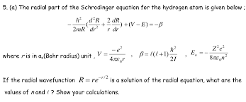 a the radial part of the schrodinger equation for the hydrogen atom