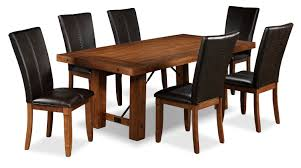 helix piece dining room set  oak  leon's