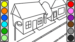 City Street House Coloring Pages For Toddlers Youtube