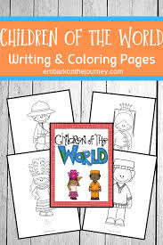For even more sheet similar to the image given above your kids can browse the following related images segment on the bottom of the webpage or alternatively exploring by. Children Around The World Coloring And Writing Pages