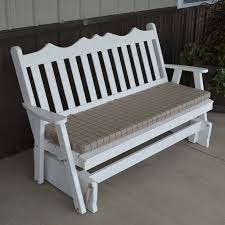 a l furniture yellow pine royal english deluxe outdoor bench glider hayneedle
