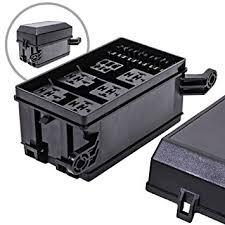 amazon com ols 12 slot relay box [6 relays] [6 blade fuses Fuse Relay Box ols 12 slot relay box [6 relays] [6 blade fuses] [ fuse relay box terminals