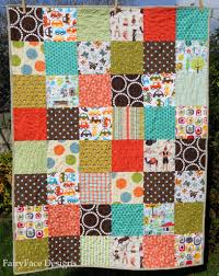 Simple Square Quilt Patterns Adorable FairyFace Designs Double Trouble Baby Boy Quilt Finishes