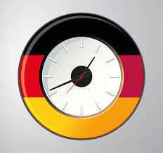 germany wall clock sticker
