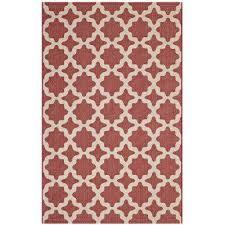 cerelia in red and beige 8 ft x 10 ft moroccan trellis indoor and