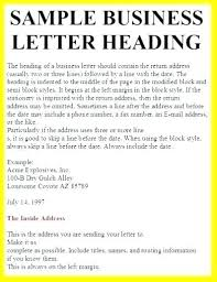 Business Letter Heading Scrumps