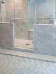 carrara marble tile contemporary master bathroom with white subway honed 12x24