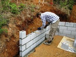 image of cinder block retaining wall home depot