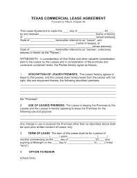 free lease agreement forms to print free texas commercial lease agreement template pdf word