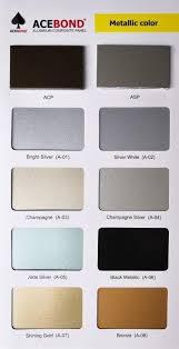 Acp Colour Chart Color Chart Top Ace Development Limited