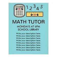 Image Result For Math Tutor Flyer Template Tutoring Flyer