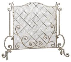acasia silver leaf fireplace screen traditional fireplace screens
